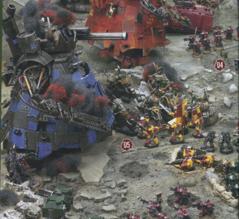 Stompa vs Space Marines